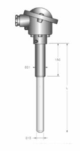 Kích thước cơ bản của cảm biến can nhiệt S