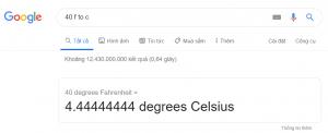 Chuyển đổi độ F sang độ C